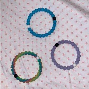 Lokai Bracelet Bundle: neon, purple, blue
